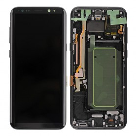 LCD + Touchscreen + Frame - Argent/Silver - S8+