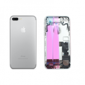 Back Cover Housing Assembly - Silver - iP7+ QA
