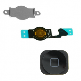 Home Button & Flex Assembly - Black - iP5G - QON