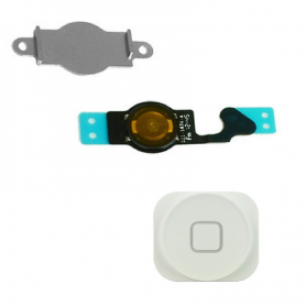 Home Button & Flex Assembly - White - iP5G - QON