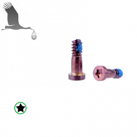 2 x Closing Screws - Pink - iP6 / iP6+ / iP6S / iP6S+ Orig