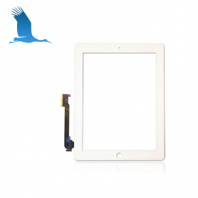 Digitizer + Home Button - White - iPAD3 (A1416) WiFi - OEM