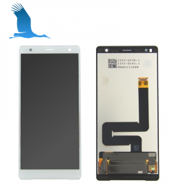 LCD Display + Touchscreen + Frame 1307-9887 - Silver - Sony Xperia XZ Premium (G8141)