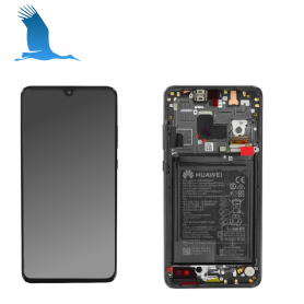 LCD Touchscreen & Frame - Black - 02352ETG - Huawei Mate 20
