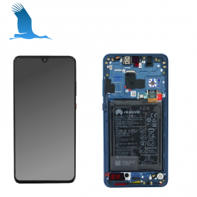 LCD Touchscreen & Frame - Blue - 02352FQM - Huawei Mate 20