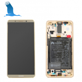 LCD, Touchscreen & Frame - Brown - 02351RQM - Huawei Mate 10 Pro