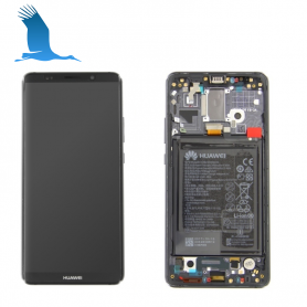 LCD, Touchscreen & Frame - Grey - 02351RVN - Huawei Mate P10 Pro