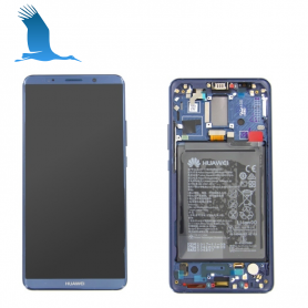 LCD, Touchscreen & Frame - Blue - 02351RVH - Huawei Mate 10 Pro