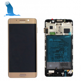 LCD, Touchscreen & Frame - Black - 02351BDD - Huawei Mate 9