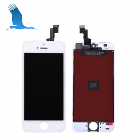 LCD & Digitizer - White - iP5S/iPSE - Original QOR