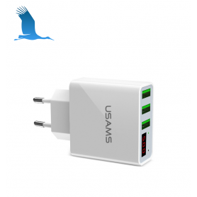 3 x USB - Powerful charger - White - 2.4A