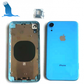 Back cover frame with glass - Blue - iPXR - QON