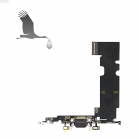 Charging Port & Audio Flex Cable - White - iP8+ QON