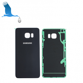 Back Cover Glass - Black - S6 Edge Plus (G928)