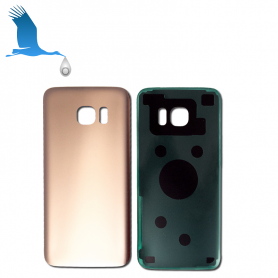 Back Cover Glass - Gold - S7 (SM-G930) - OEM