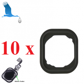 10 x Home Button Rubber Gasket - iPhone 6/6+/6S/6S+