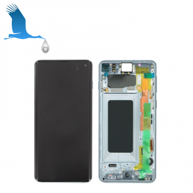 LCD, Touchscreen, Frame - GH82-18850C,GH82-18835C - Blue (Prism Blue) - Samsung S10 - G973F