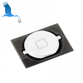 Home Button With Gasket - White - iPhone 4S