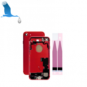 Back Cover Housing Assembly - Red - iPhone 7 - OEM/QOR