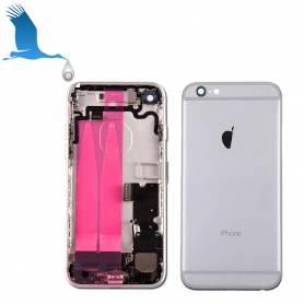 Back Cover Housing Assembly - Silver - iPhone 7 - OEM/QOR