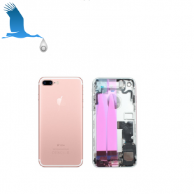 Back Cover Housing Assembly - Pink - iPhone 7 - OEM/QOR