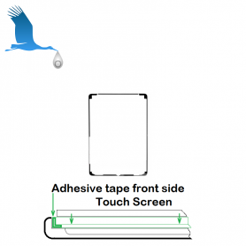 Adhesive tape front side - Black - iPad Air