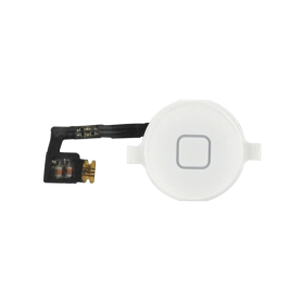 Nappe + bouton home iPhone 4 - Blanc