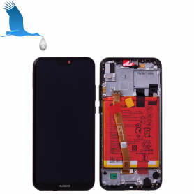 LCD + Frame + Batterie - Black - Huawei View 10 (BKL-L09)