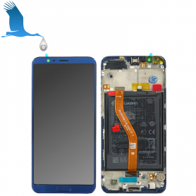 LCD + Frame + Batterie - Blue - Huawei View 10 (BKL-L09)