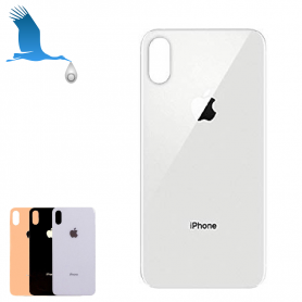 Rear Glass cover - White - Large hole - iPhone XS Max - oem