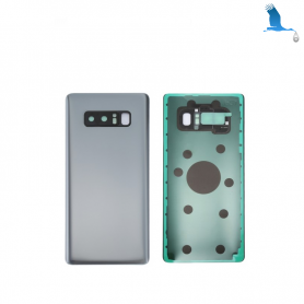 Back cover batterie case with lens - Silver - Note 8 - N950F - qor