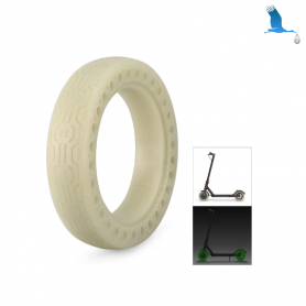 "8.5"" Solid tyre - fluorescent green - non-inflating - Xiaomi Electrique Scoter M365 & M365 Pro"