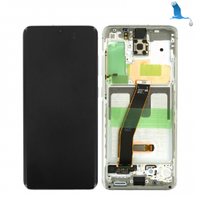 LCD With frame - White (Cloud White) - S20 (G980F/G981B) qor