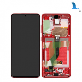 LCD + Touchscreen + Frame - Red (Aura Red) - S20 Plus (G985F) / S20 Plus 5G (G986F) - GH82-22134G - orig
