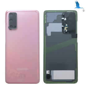 S20 - 5G - Back Cover Glass - Pink - GH82-21576A - Service pack - qor
