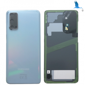 S20 - 5G - Back Cover Glass - Blue - GH82-21576D - Service pack - qor