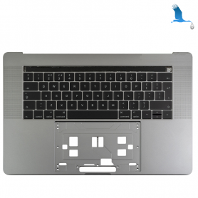Top case with TouchBar - Grey - Swiss keyboard - Macbook Pro A1707