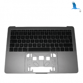 Top case - Grey - Keyboard CH - Macbook Pro A1708
