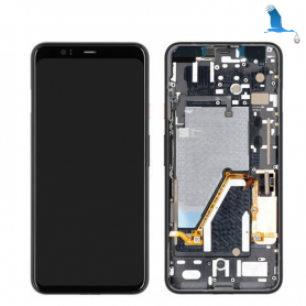 Display, Touchscreen and Frame - White (Clearly White) - Pixel 4 XL (G020P) - 20GC20W0013