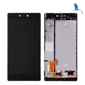 Display, Touch Screen and frame - Black - Huawei P8 (GRA-L09)