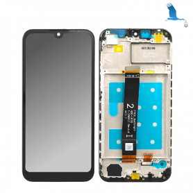 LCD touchscreen and frame - black - Huawei Y5 2019 (AMN-LX1)
