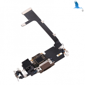 Charging port flex with circuit board - 821-02140A - Silver - iPhone 11 Pro Max - ori