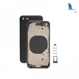 Frame with rear glass - Black - iPhone 8