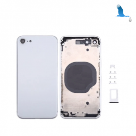 Frame with rear glass - White - iPhone 8