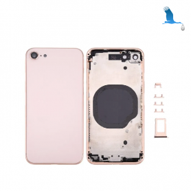 Frame with rear glass - Gold - iPhone 8