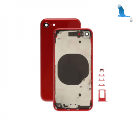 Frame with rear glass - Red - iPhone 8