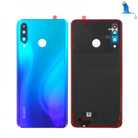 Back cover glass with lens - 02352RPY - Peackock Blue - Huawei P30 Lite (MAR-LX1M) - service pack