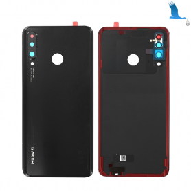 Back cover glass with lens - 02352RPV - Midnight black - Huawei P30 Lite (MAR-LX1M) - service pack